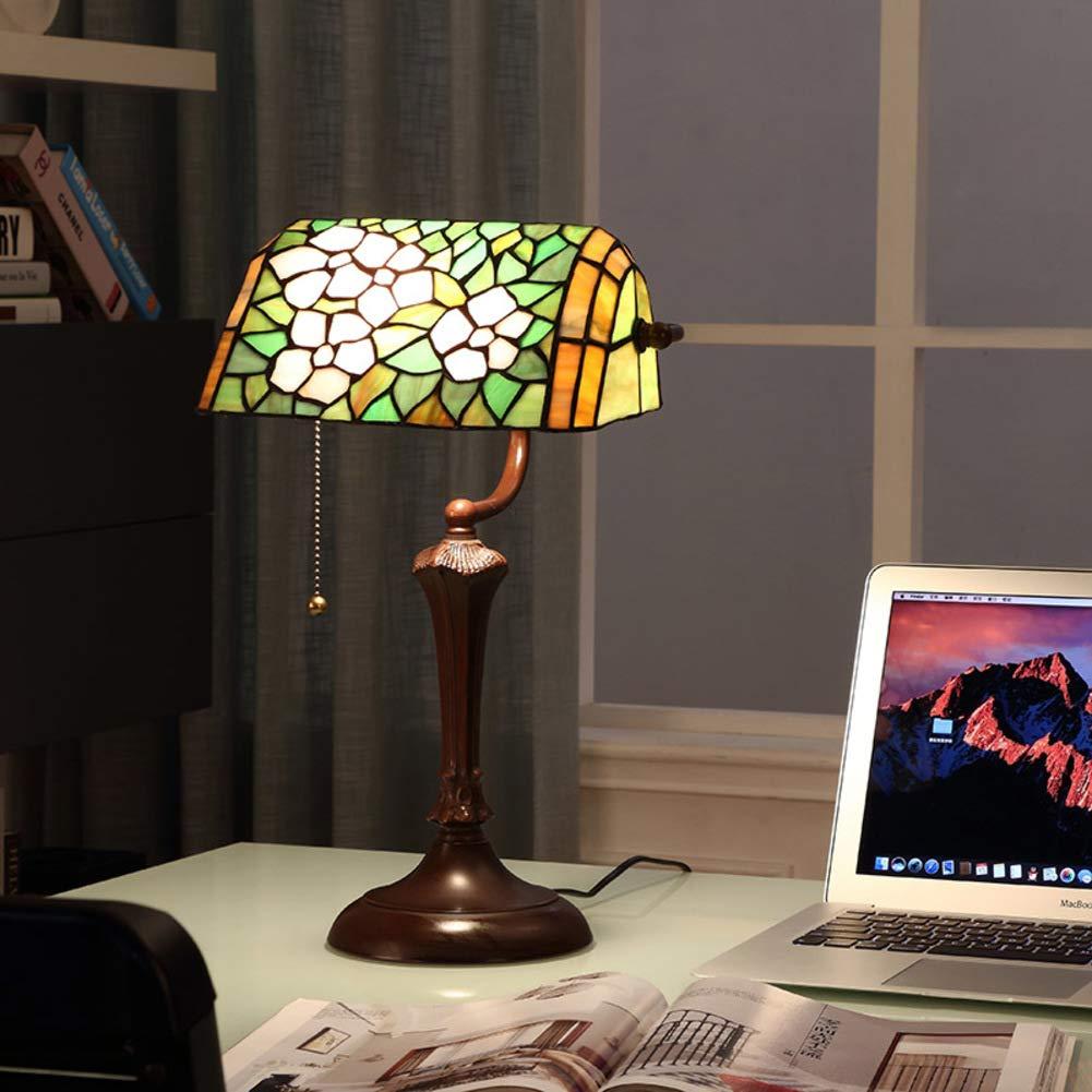 Amerikanischen Amerikanischen Amerikanischen landhausstil Kreativ Retro Tischlampe, Studie schreibtischlampe,Art-deco- Zugkette Weiches licht Augenpflege Für Arbeit Bücherregal Kommode-A 26x40cm(10x16inch) 7663a7