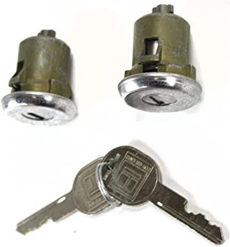 Pair of 2 New Door Lock Cylinder Keys Set For Chevy Chevrolet Truck Blazer C1500 C2500 Suburban C3500 K1500 K2500 Cheyenne WT