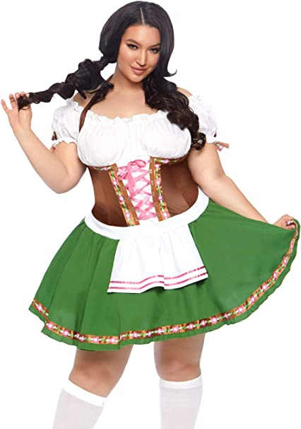 Amazon.com: Leg Avenue Womens Beer Babe Oktoberfest Costume ...