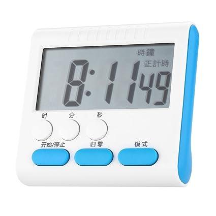 Temporizador de Cocina Digital Temporizadores de Cocina con Gran Pantalla LCD Reloj Despertador Alarma Soporte Fuerte