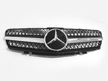 Car Lab Rejilla delantera de 4 aletas para Benz clase C W203 ...
