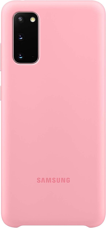 Samsung - Funda de silicona para Galaxy S20, rosa