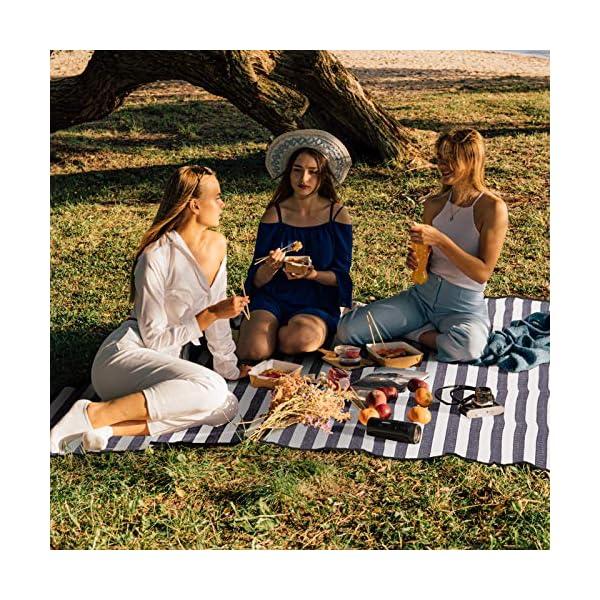 SPGOOD Picknickdecke 200 X 200CM 2-5 Personen wasserdicht Stranddecke Campingdecke wärmeisoliert Familiengröße Matte für…