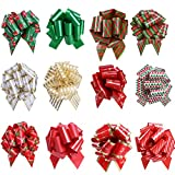 Arts & Crafts : UNOMOR Christmas Gift Pull Bows for Holiday Decoration Pack of 12