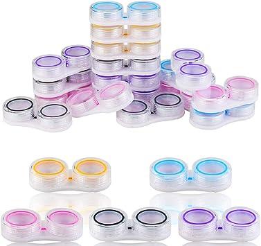 WFPLIS - Estuche transparente para lentes de contacto, 20 unidades con anillo de goma: Amazon.es: Salud y cuidado personal
