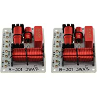 F Fityle 2Pcs 150W 3 Way Speaker Crossover Frequency Divider Filters Board