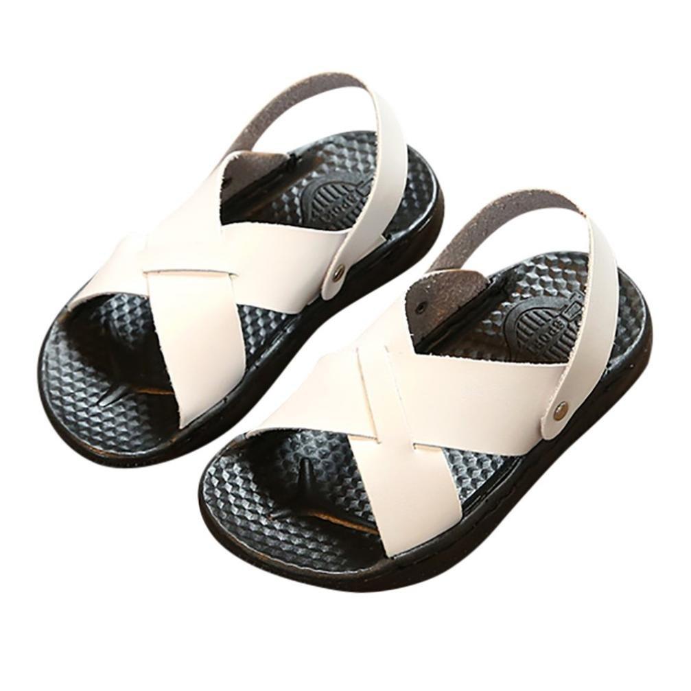 dadbd0332a45cc Amazon.com  Axinke Casual Open Toe Slip-on Summer Slides Slippers Flat  Sandals for Toddler Girls