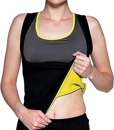 EULAGPRE Pérdida De Peso De Las Mujeres Sudor Neopreno Cintura Trainer Camisa Chaleco Chaleco De Sauna: Amazon.es: Ropa y accesorios