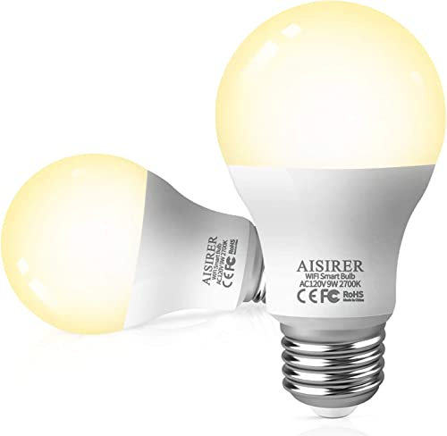 Smart Light Bulb 2.4GHz WiFi LED Bulbs 60 Watts 806LM Compatible