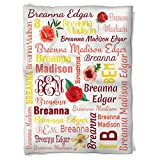 Have Faith Boutique Personalized Baby Blanket with Name- 30''x40''- Velveteen Fleece - Floral