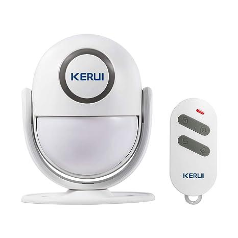 KERUI P6 Sistema de Alarma para el Hogar Inteligente Antirrobo Sensor Infrarrojo de Movimiento Conexión Inalámbrica Sirena, Sensor de Puerta, Control ...
