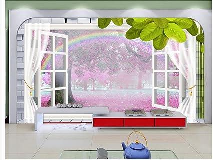 Carta Da Parati Fiori Di Ciliegio : Chlwx cmx cm inx in d wallpaper per camera fiori