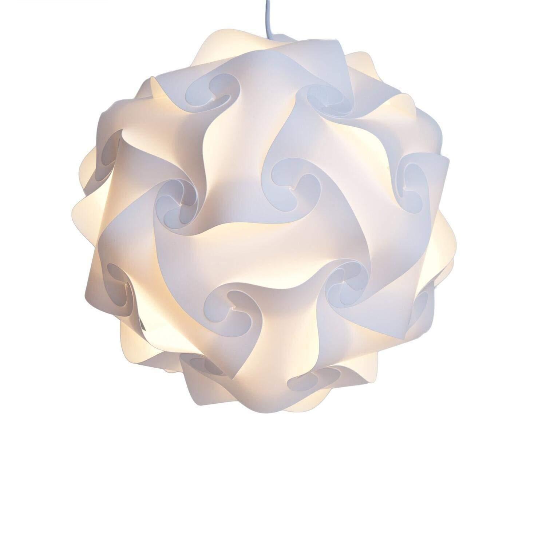 Puzzle paralume DIY Pendant FIXTURE Home Decor bianco XL & # xFF08; 40cm & # XFF09; Bujingyun