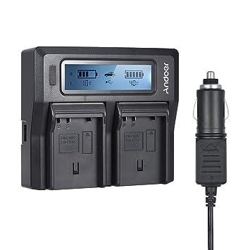Andoer Cargador de Batería de la Cámara NP-FZ100 LCD de ...