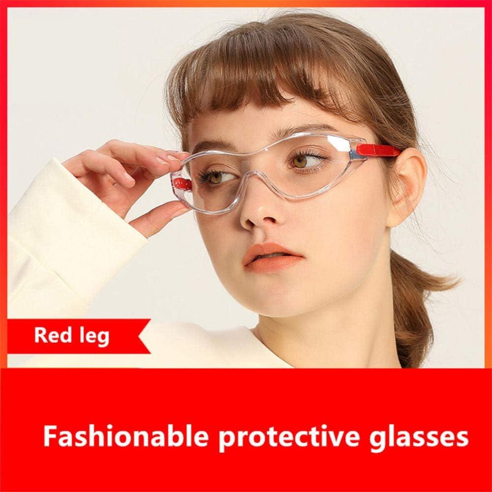 LMWB Gafas Lcon Lentes antiempañantes Resistentes a Salpicaduras, Ligeras y cómodas de Usar-Pierna roja