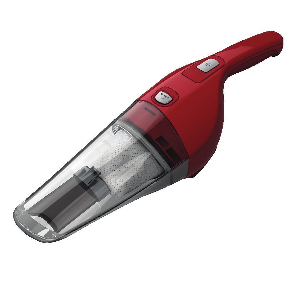 BLACK+DECKER HNV220BCZ26FF 7.2-Volt Compact Lithium Hand Vac 2Ah Kit - Chili Red - Cordless