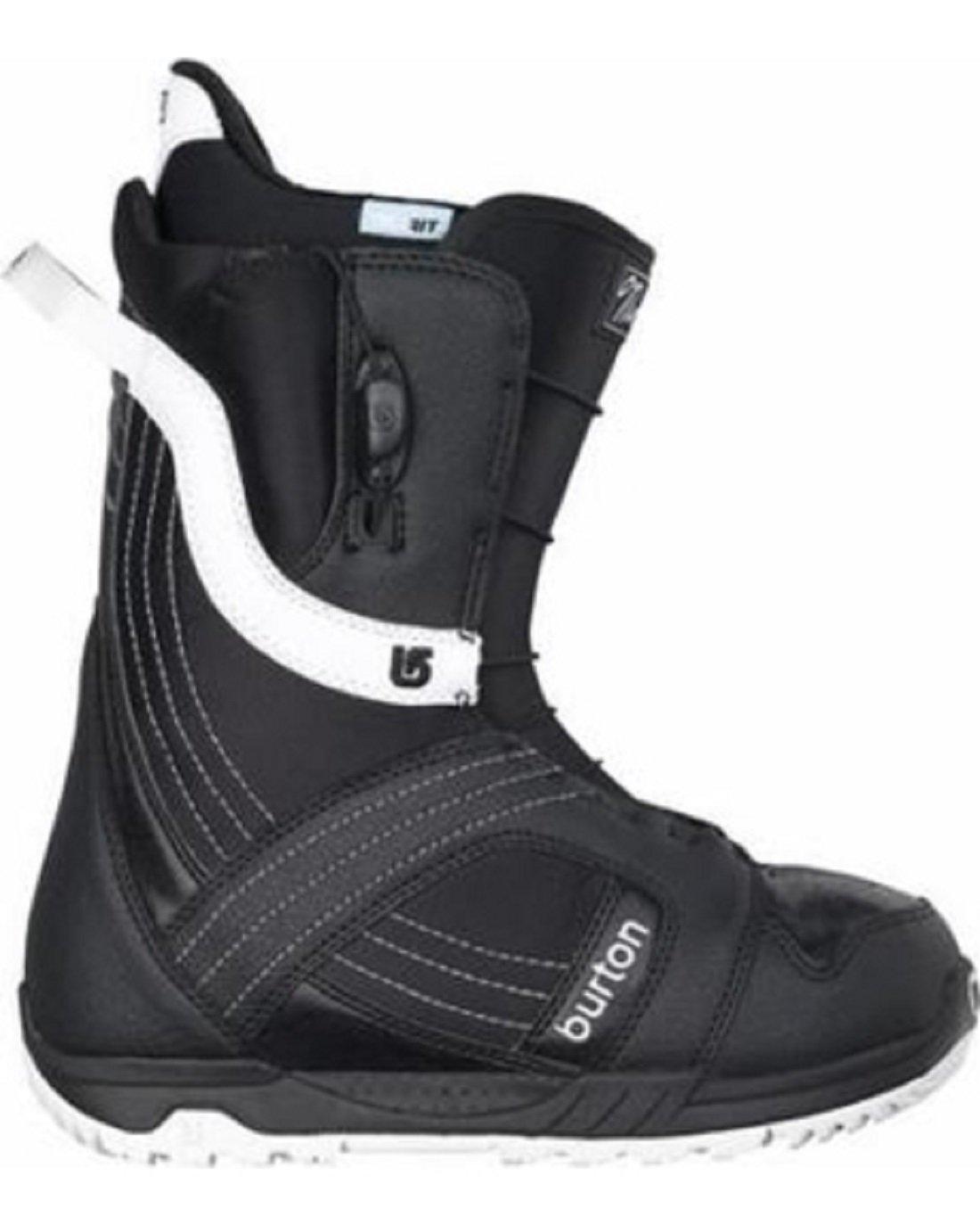Burton Mint Snowboard Boot (Black/White, 6.0) by Burton