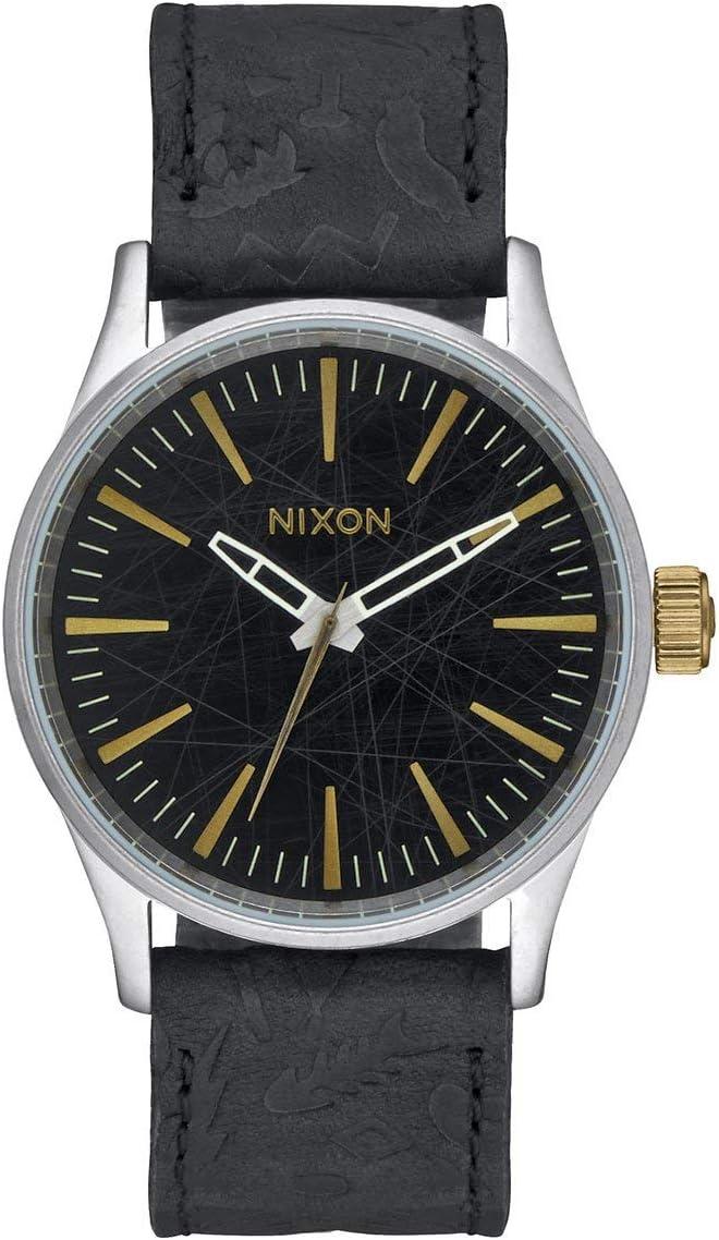Nixon Sentry 38 Leather -Spring 2017- Black/Brass