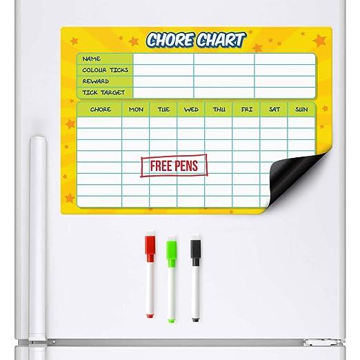 CKB LTD - Pizarra magnética para nevera con marcador de borrado en ...