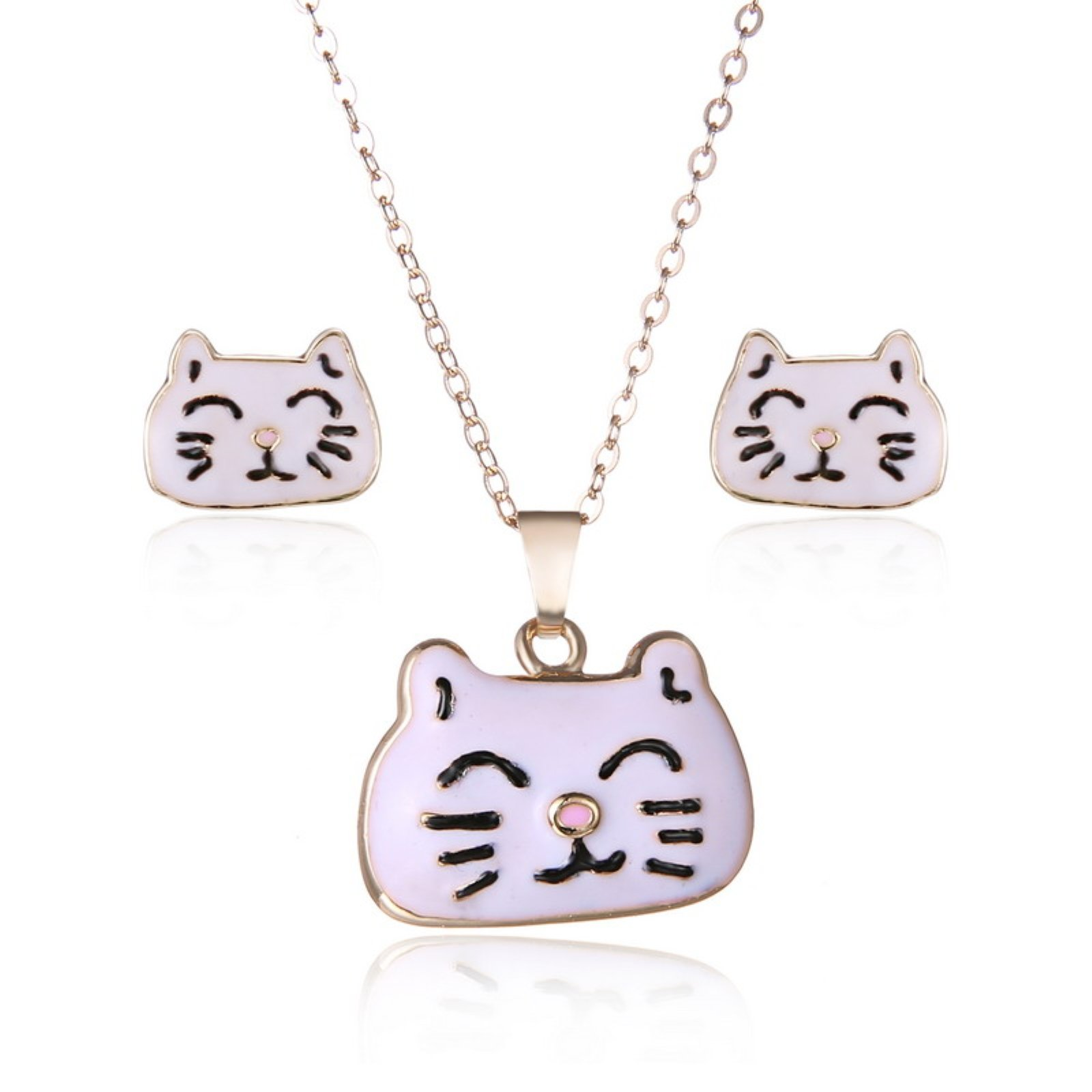 ptk12 Fashion New Animal Stud Earrings Jewelry Set for Girls Earring And Necklace Sets Wedding Jewelry