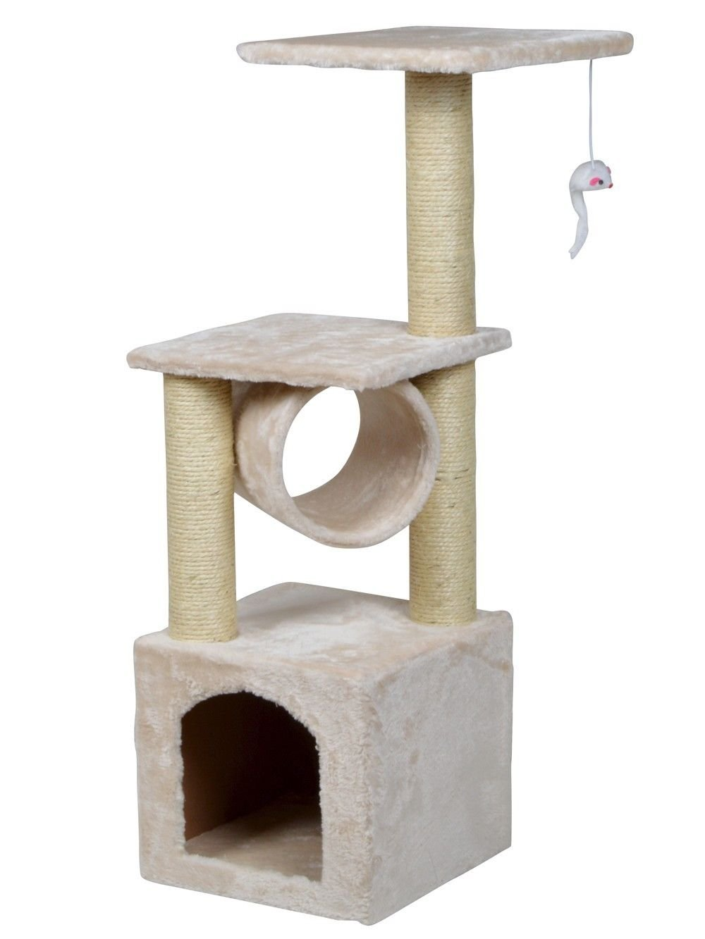 """36"""" Pet Play House Level Condo Furniture Scratching Post Kittens Deluxe Cat Tree"""
