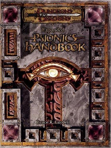 Amazon.it: Expanded Psionics Handbook - Cordell, Bruce R. - Libri ...