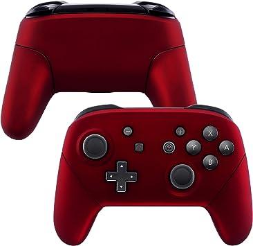 eXtremeRate Carcasa Agarre para Nintendo Switch Pro Funda Delantera Trasera Asa Shell de Tacto Suave Grip de reemplazo para Controlador Nintendo Switch Pro-No Incluye el Mando (Rojo): Amazon.es: Electrónica
