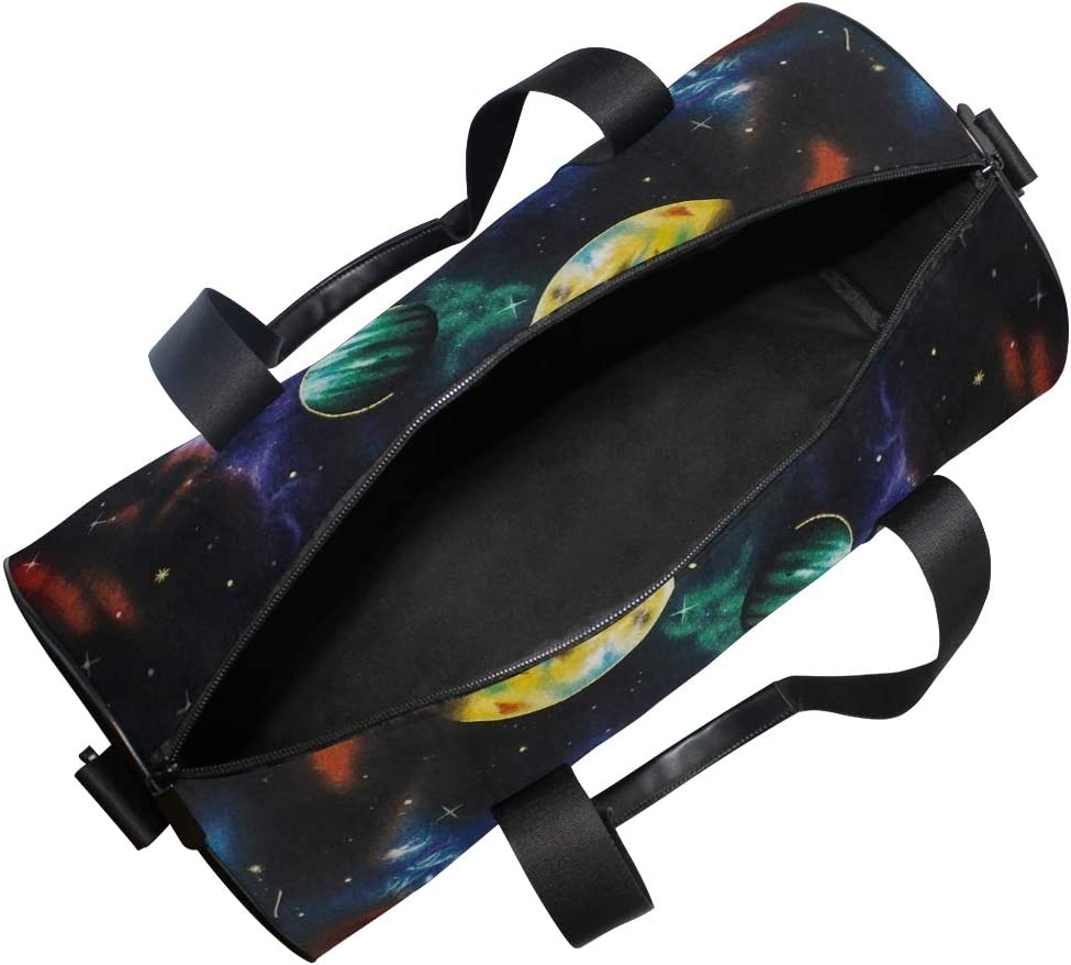 OuLian Duffel Bag Outer Space Galaxy Stars Zodiac Women Garment Gym Tote Bag Best Sports Bag for Boys