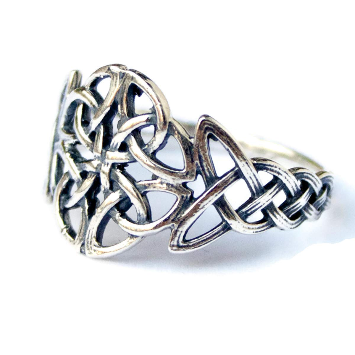Trinity Cetic Knot Viking Ring for Women Silver Scandinavian Norse Jewelry Celtic Rings for Women