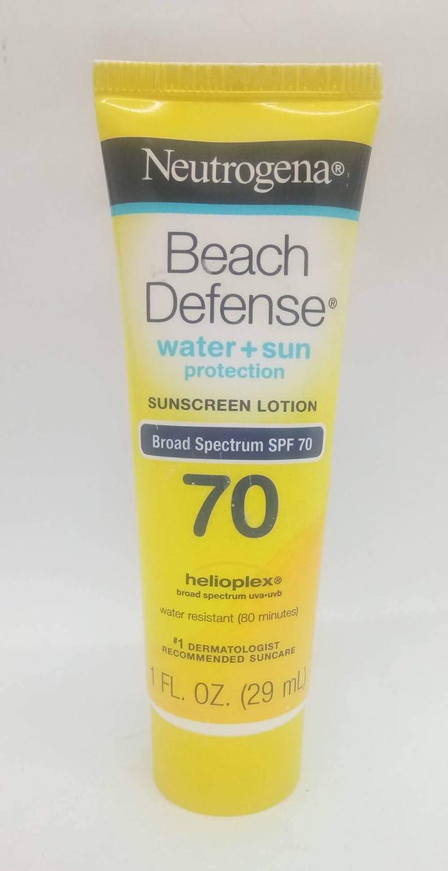 Neutrogena Beach Defense Sunscreen Lotion Broad Spectrum Spf 70, 1 Fl. Oz, 1 Fluid Ounce