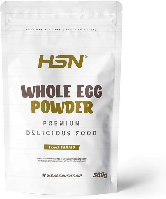 Proteína de Huevo Entero en Polvo de HSN   Para Vegetarianos   Sustituto del Suero de Leche   100% Albúmina de Clara de Huevo + Yema   Apto para ...