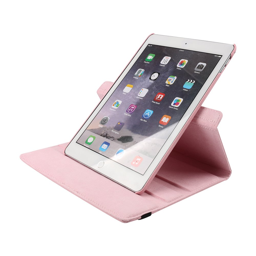 Boens iPad New 2019 10.5 Inch Cases and Cover,360 Degree Rotating Case Smart Lightweight Cover Slim Sleeve Multi-Angle Viewing Stand, Case for iPad Air 3,Pink