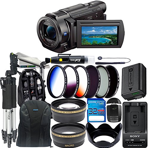 Sony FDR-AX33 4K Ultra HD Handycam Camcorder + 32GB SD Card + Expo Premium Accessories Bundle -  Deal-Expo, SNAX33DPB