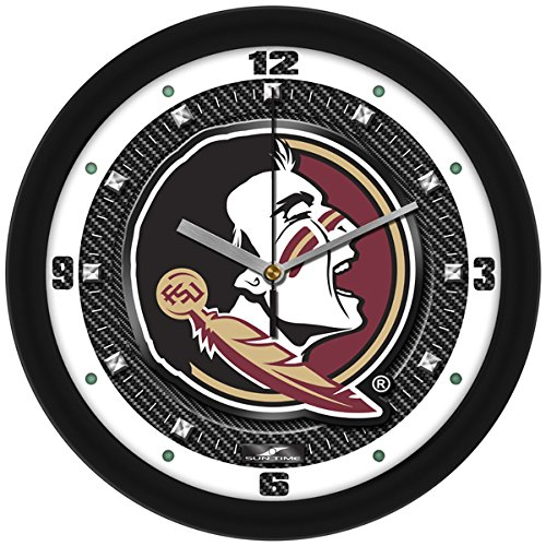 Florida State Seminoles Wall Clock (NCAA Florida State Seminoles Textured Carbon Fiber Wall Clock)