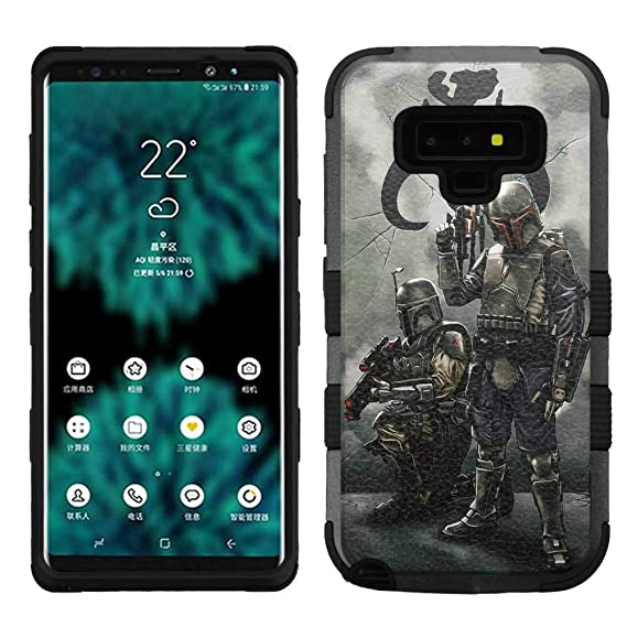 new concept bb98d 0068e Amazon.com: for Samsung Galaxy Note 9, Hard+Rubber Dual Layer Hybrid ...