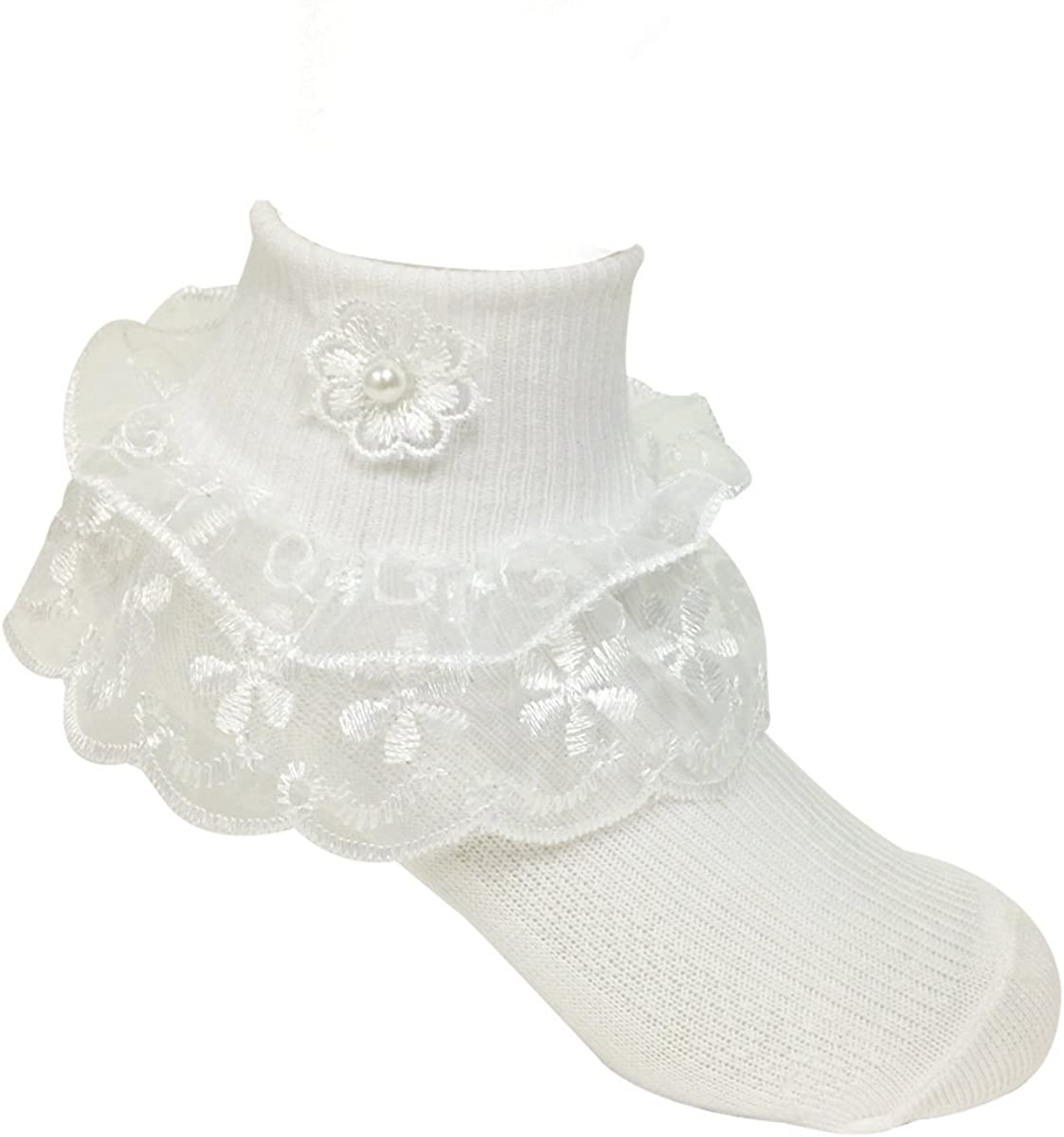 Allydrew Lil Miss Daisy Double Layer Lace Ruffle Socks Set of 2