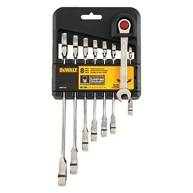 DeWalt DWMT74198 Ratcheting Metric Combination Wrench Set (8 Piece)
