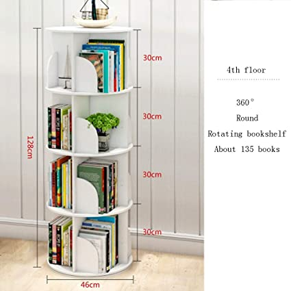 Gentil XIAOYAN Shelves Creative Rotating Bookshelf 360° Rotating Bookcase Simple  Table Or Floor Multi Layer