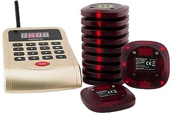 T128 Kellneruhr mit 5 Kundentasten Retekess TD108-T117 Kundenrufsystem Portugiesisch Restaurant Pager System 433MHz 72H 3-Tasten im Hotel Restaurant Tisch im Freien Privatzimmer