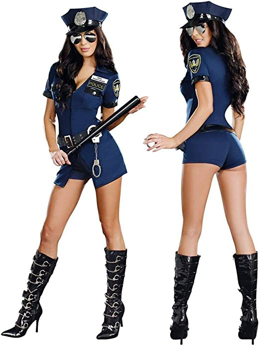 Disfraz de policía para mujer Adulto,Bloomma oficial caliente ...