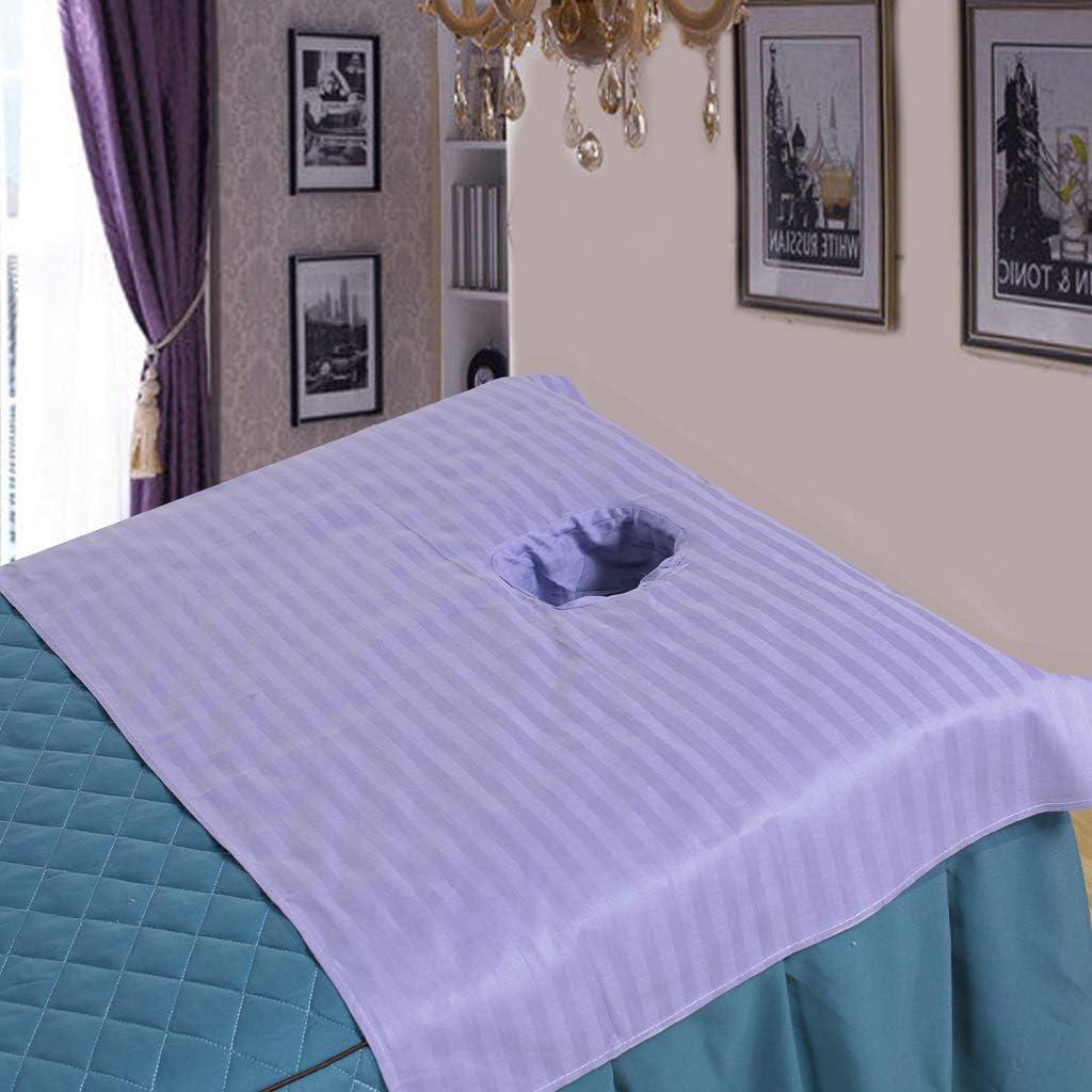Rose LOVIVER Feuille Sectionnelle De Table De Massage du Coton 3pcs avec Le Trou De Reste De Visage 50x80cm