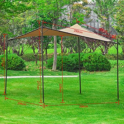 SoBuy® Pergola, Cenadore, Toldo, 3x3 m, OSS01, ES: Amazon.es: Jardín