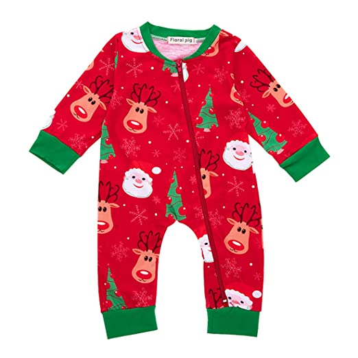 8bd3d4e57626 Fairy Baby Toddler Baby Boy Girl Christmas Romper Pajamas Deer Jumpsuit  Floral Outfit Size 6-