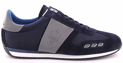La Martina Scarpe Sneakers Uomo Maserati L3095265 Camoscio Navy Bomber Blue f25ce21d13c