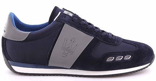 competitive price b5f76 12296 La Martina Scarpe Sneakers Uomo Maserati L3095265 Camoscio ...