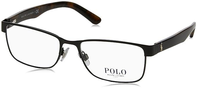 Amazon.com: Polo PH1157 Eyeglass Frames 9038-55 - Matte Black PH1157 ...