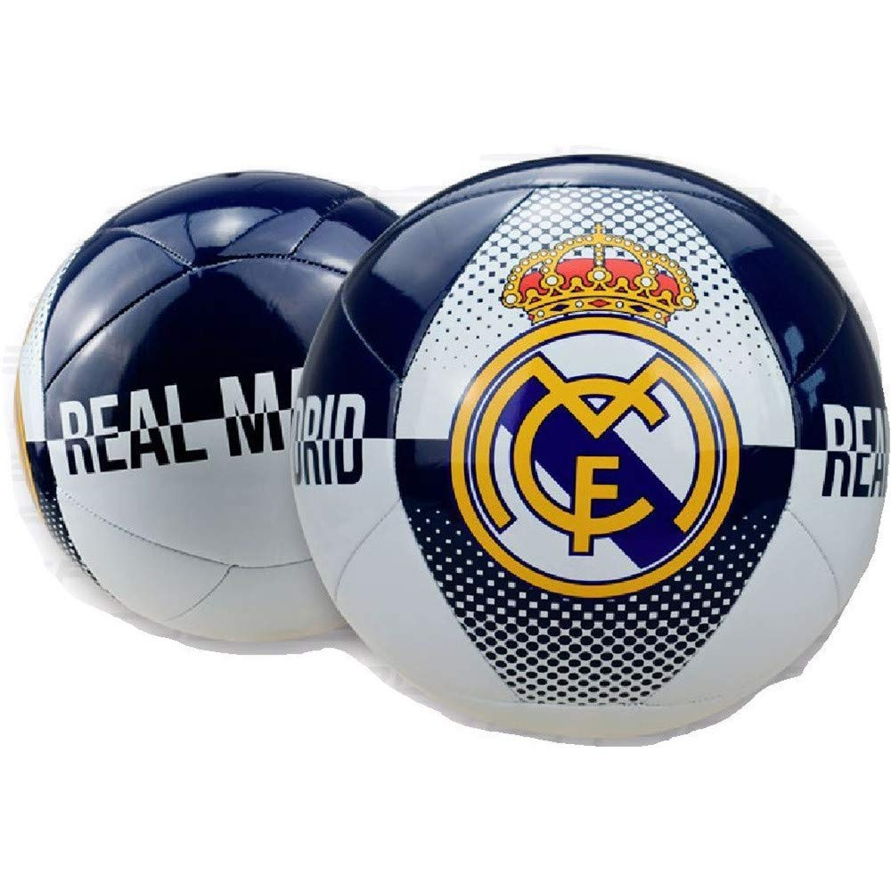 BALON GRANDE REAL MADRID COLOR BLANCO AUL MARINO: Amazon.es ...