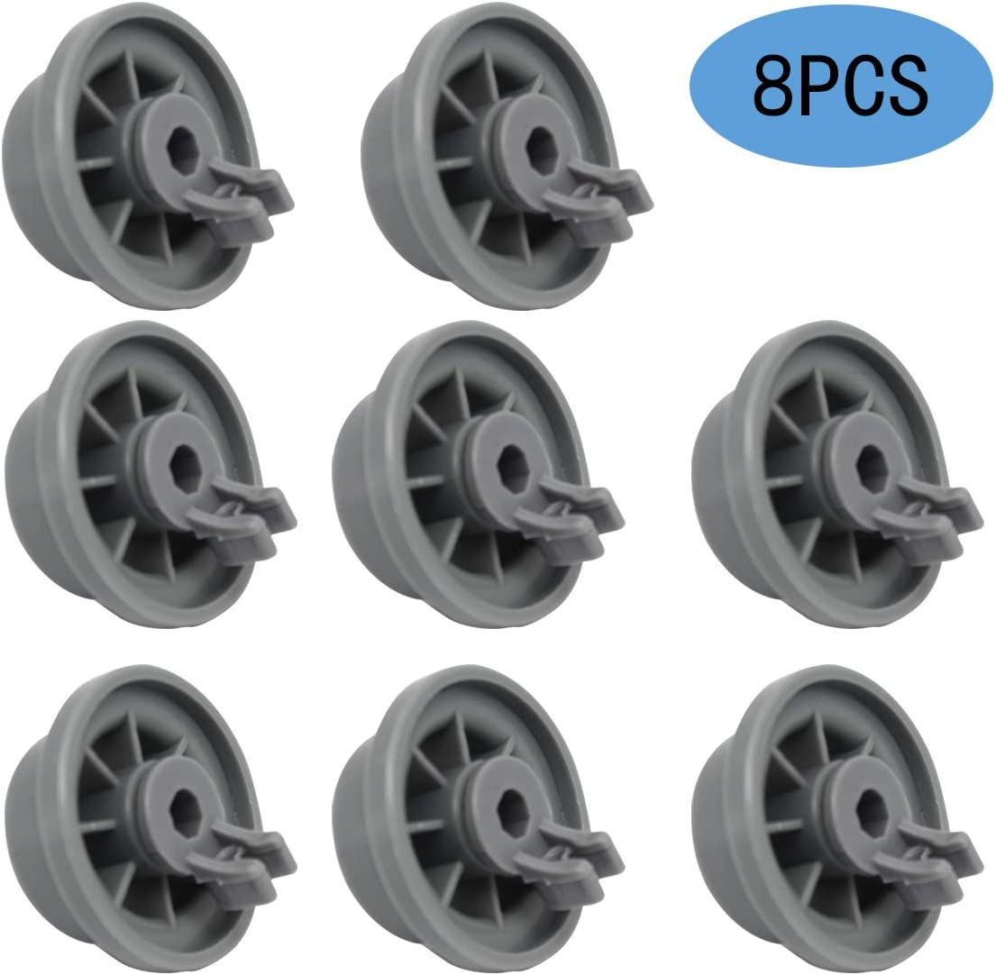 165314 Dishwasher Lower Rack Wheel Replacemen Fit for Bosch and Kenmore Dishwasher,Replaces 420198 AP2802428 PS3439123 (8 Pack)