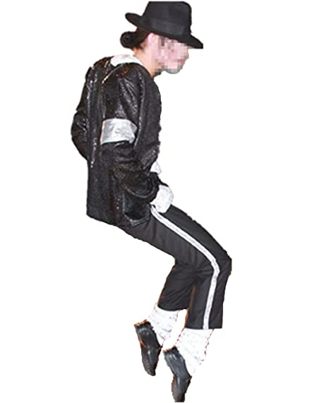 0e4971f4eaab Michael Jackson Billie Jean Costumi e Travestimento 5 Pezzi Adulto e Bambino  Unisex Cappotti Giacca +