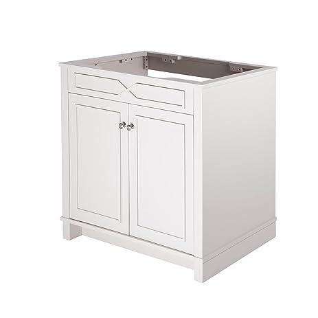MAYKKE Abigail Inch Bathroom Vanity Cabinet In Birch Wood French - Bathroom vanities floor mounted